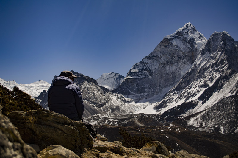 Client Enjoying the Views of Captivating Himalayas