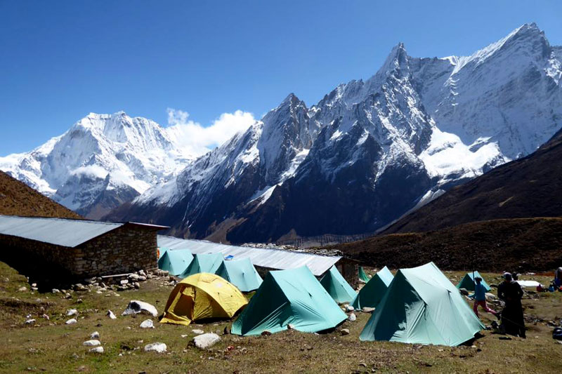 Camps while trekking to Everest Base Camp