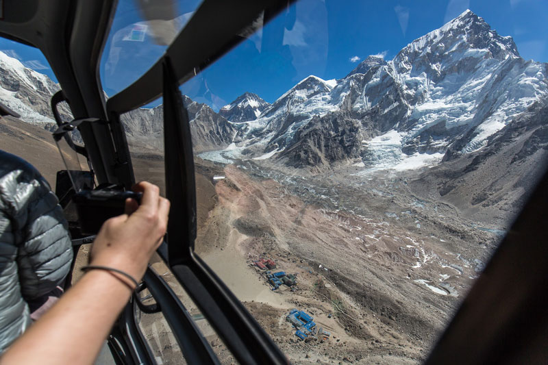 View from helicopter- Everest Base Camp heli Tour