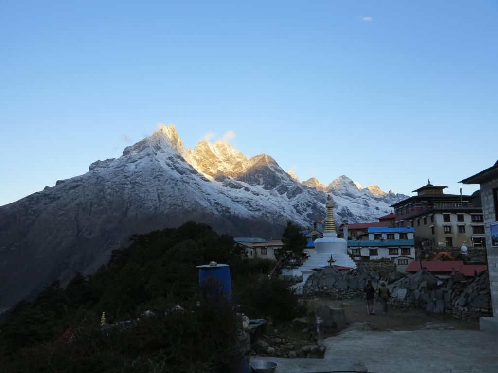 Magical Views of Himalayas from Tengboche Monastry