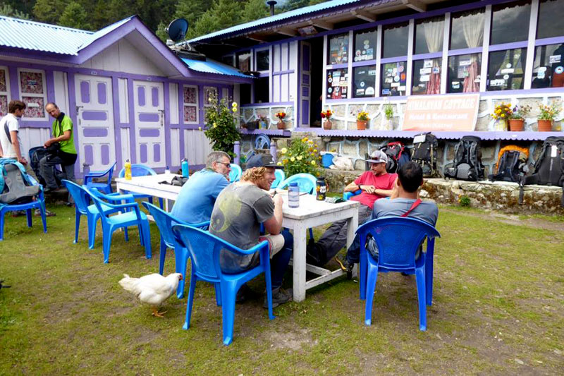 Lunch Place while trekking to Everest Base Camp