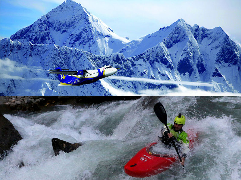 Mountain Flight and Rafting