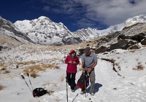 Happy Couple on Everest Base Camp Trekking