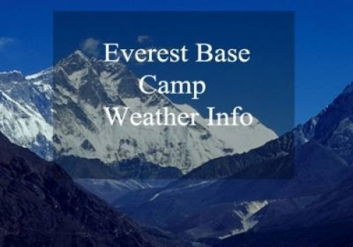 Everest Base Camp Weather Info