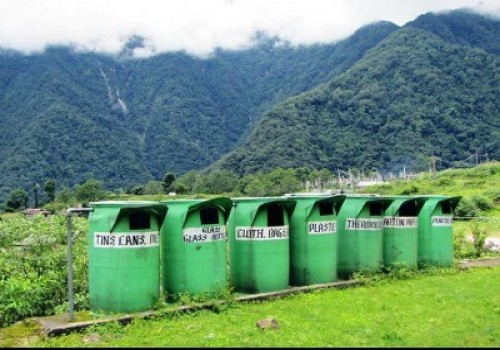 Dustbin to Manage waste in himalayas