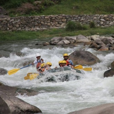 People Enjoying River Rafting in Nepal