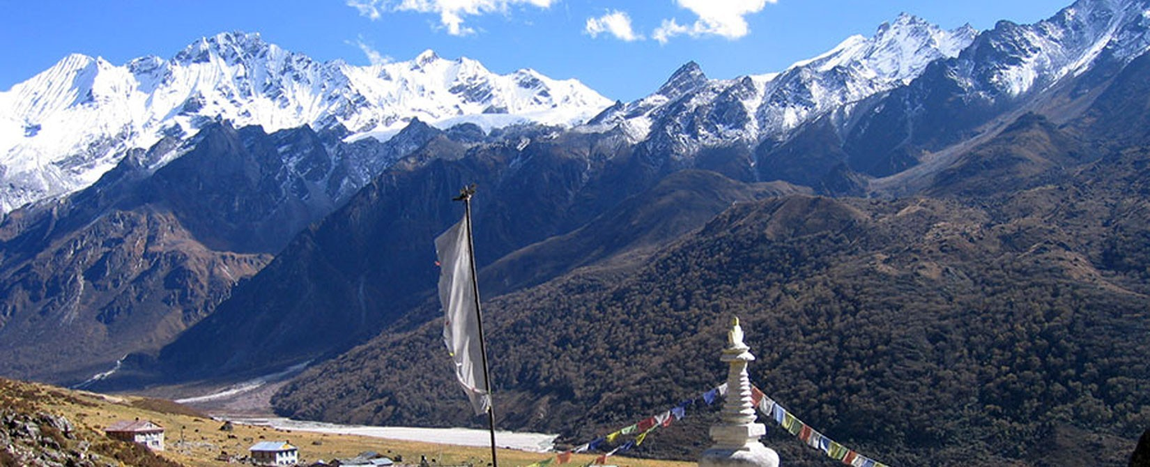 Breathtaking Views of Mountains from the village of Humla