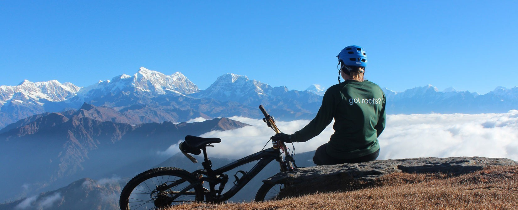 Mountain biking in the lap of Himalayas