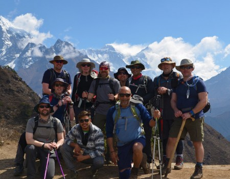 Clients on Everest Trekking