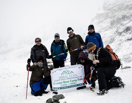 Everest Base Camp Group Picture